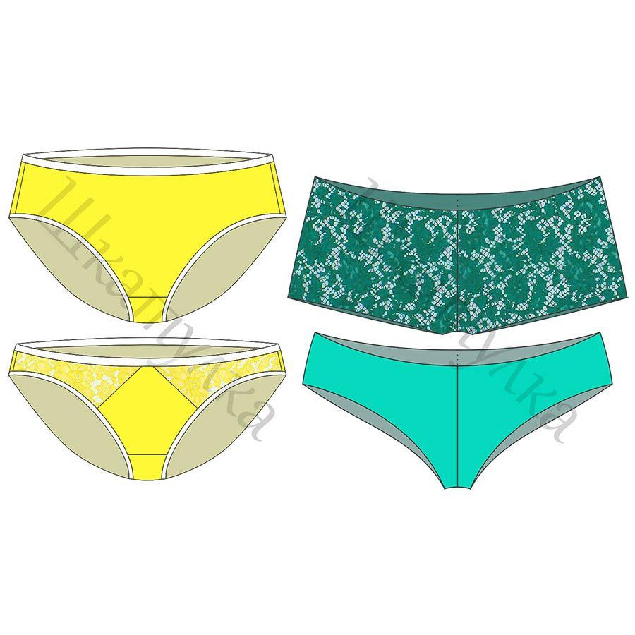 Muster der Frauen Höschen - kostenlos | Sewing for Woman: Underwear+ ...