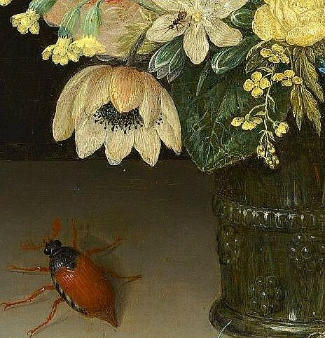 Still Life with Tulips (detail) by Peter Binoit, 1623