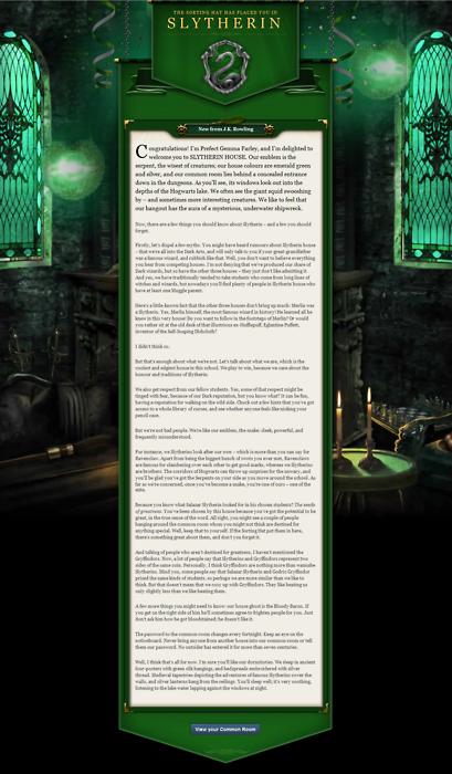 Harry Potter Classroom: Slytherin Welcome Letter From Pottermore (With Images