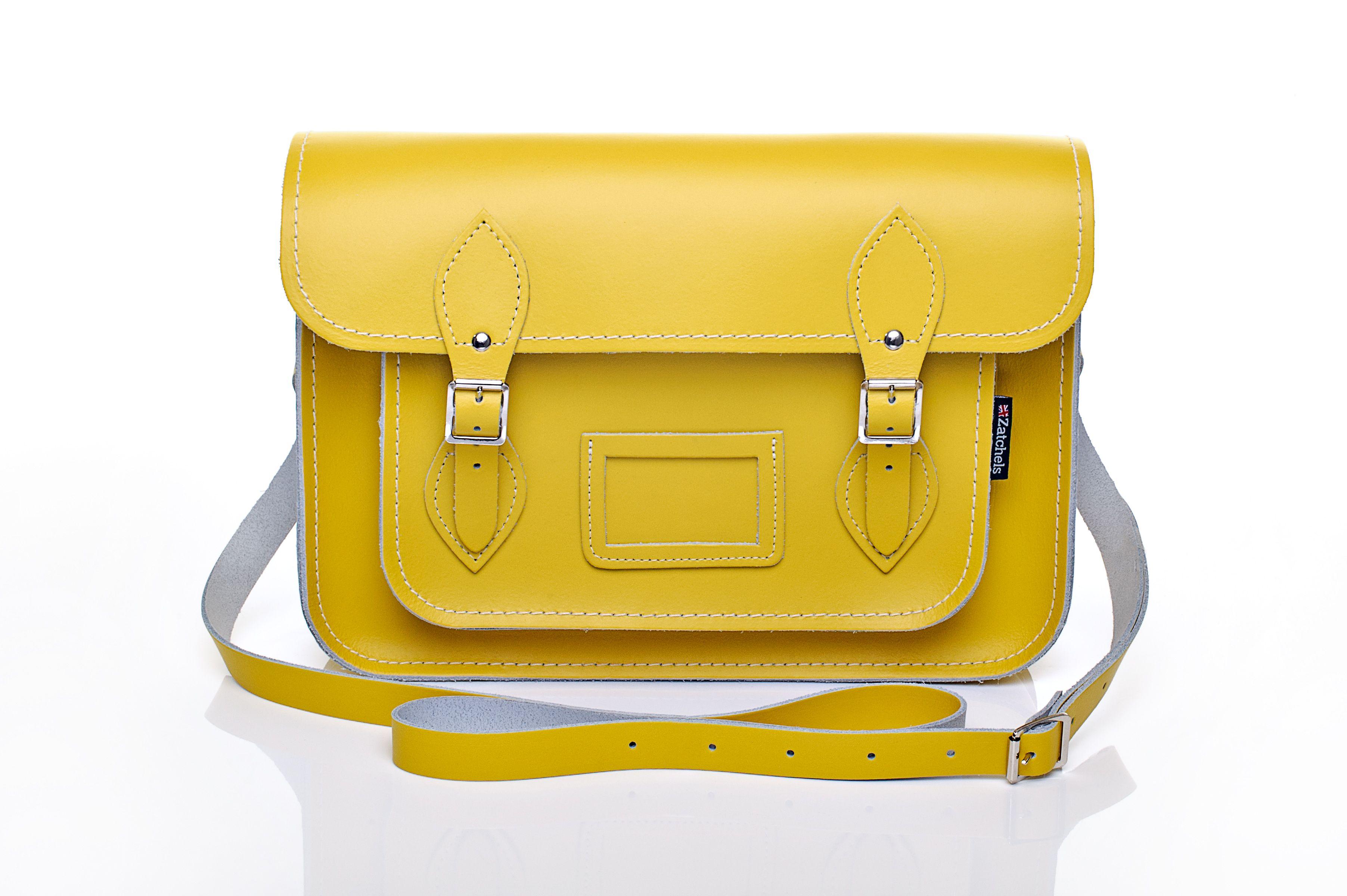 Zatchels Pastel Daffodil Yellow Satchel #springwishlist #pastels #SS14 #spring #summer #fashion #style #zatchels #leather #accessories #satchel #bag #trend #pasteltrend