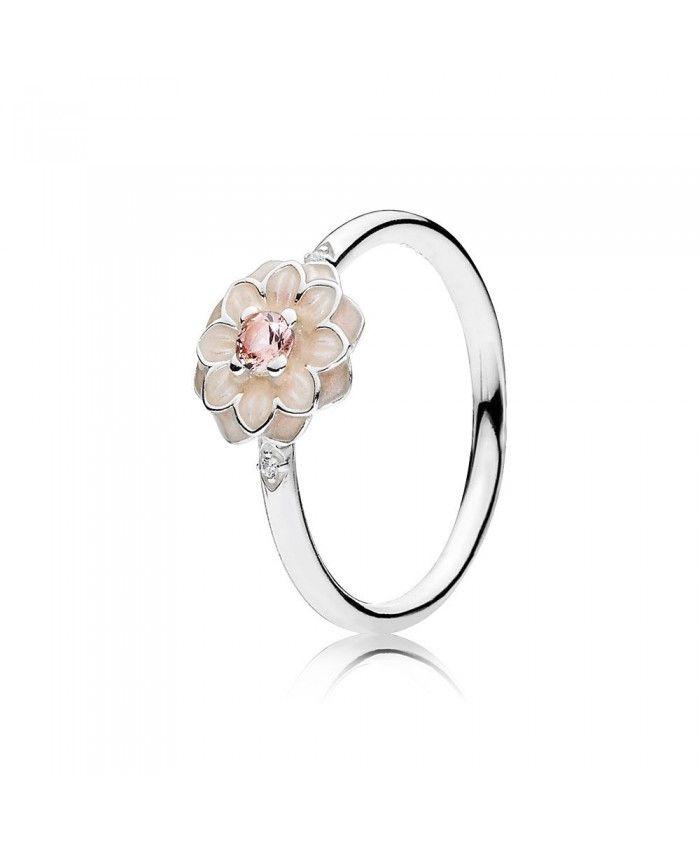 anillo pandora flores rosas