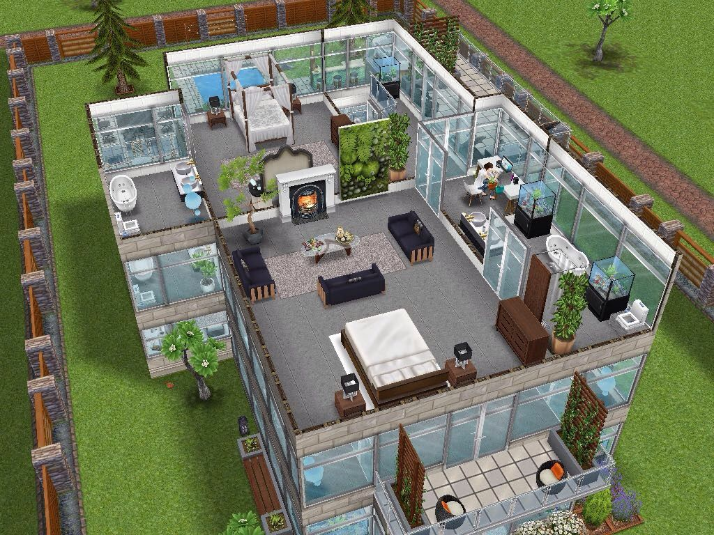 House 15 level 3 sims simsfreeplay simshousedesign for Casa de diseno sims freeplay