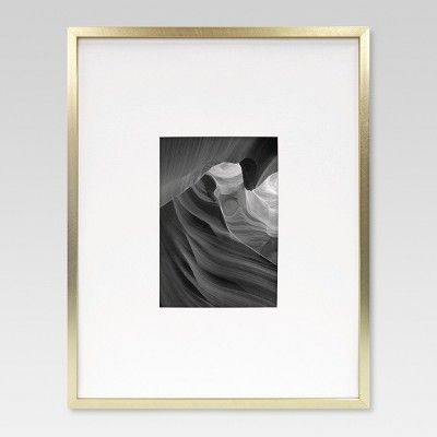 11 X 14 Matted To 5 X 7 Metal Single Picture Frame Brass Project 62 Frames On Wall Photo Room Picture Frames