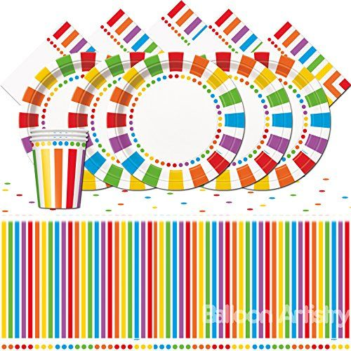 Rainbow Party Colourful Childrens Birthday Party Tablewar.  sc 1 st  Pinterest & Rainbow Party Colourful Childrens Birthday Party Tablewar...\u2026 | Baby ...