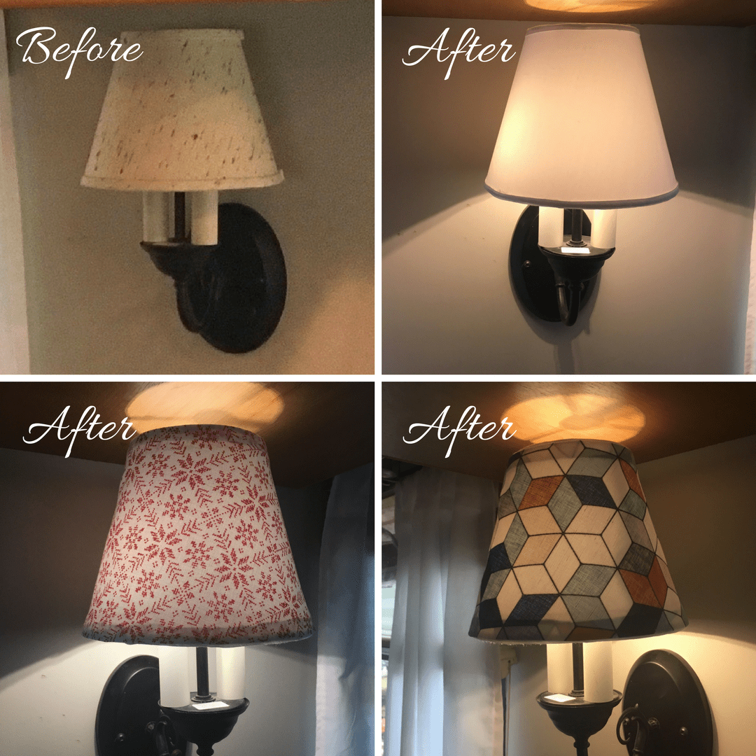 Diy how to make removeable lampshade covers rv and rv hacks make your lamp shade match any decor or decorate for any season with this no aloadofball Image collections