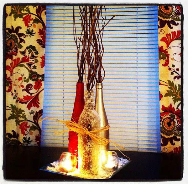 20 easy homemade christmas decorations for kids for Bottle decoration ideas kids