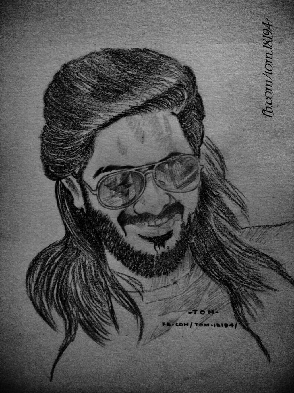 Dulquer salmaan solo drawing in 2019 paper art drawings sketches
