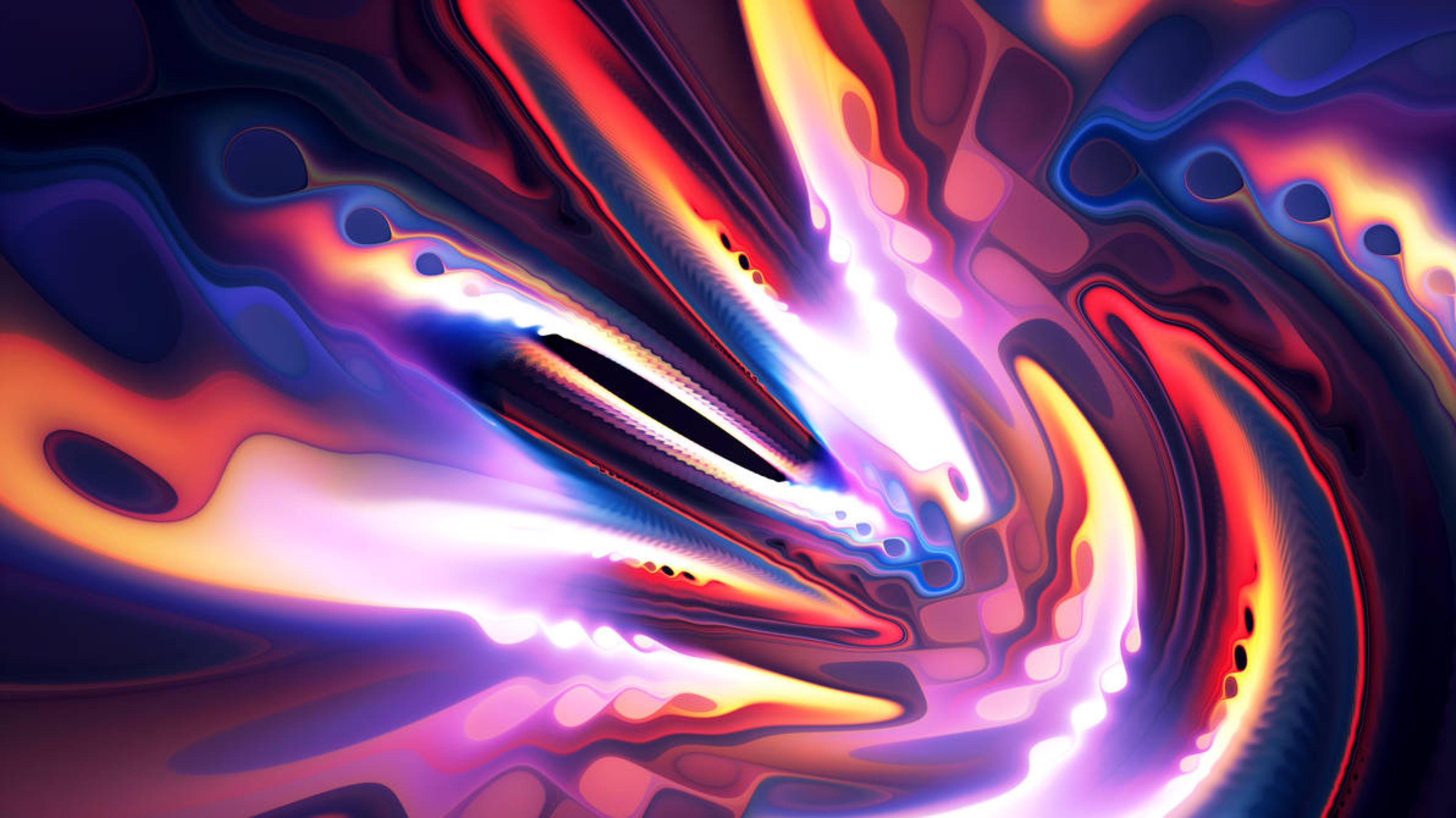 Gnyro By Senzune On Deviantart Abstract Abstract Wallpaper Art Wallpaper Hd wallpaper abstract neon fractal waves