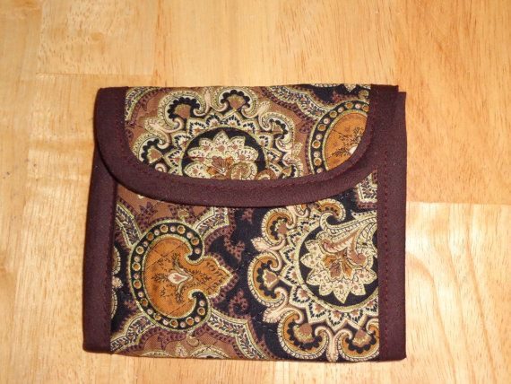 Brown Gold Black Sparkle Paisley Print Quilted by RoxannasBags
