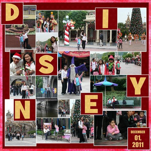digital scrapbook design hongkong disneyland parade