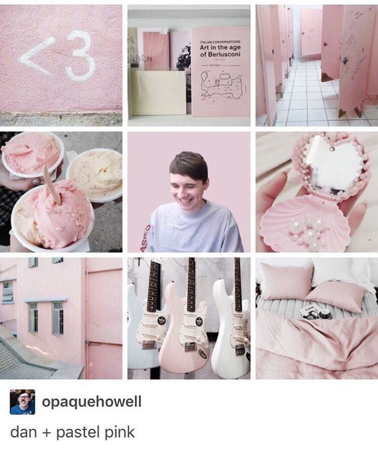 Dan and pastel pink = everything I need in life