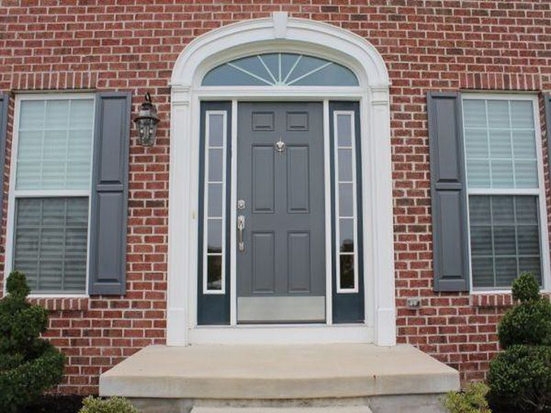 red brick door color - Google Search | front door | Pinterest ...