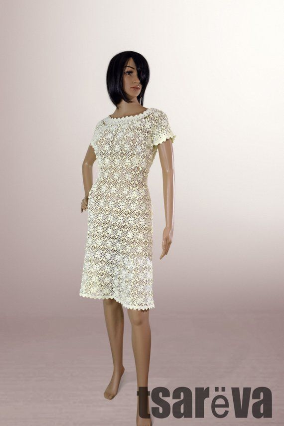 fa77dd0f81bfd Crochet dress Danielle. Handmade women romantic summer day or ...
