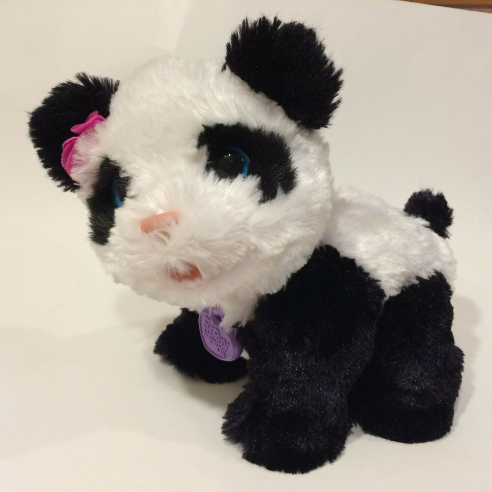FurReal Friends Pom Pom My Baby Panda Walks Sounds New Batteries Included #FurRealFriends #babypandabears