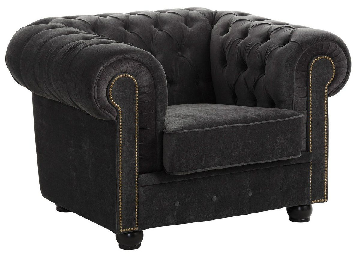 Chesterfield Sessel Rover Mit Edler Knopfheftung Chesterfield