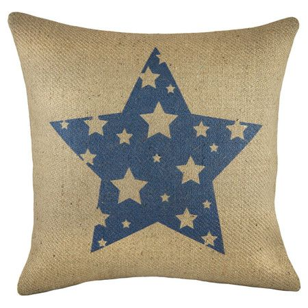 Add A Touch Of Texture To Your Living Room Sofa Or Reading Nook Arm Extraordinary Burlap Star Decorative Pillow