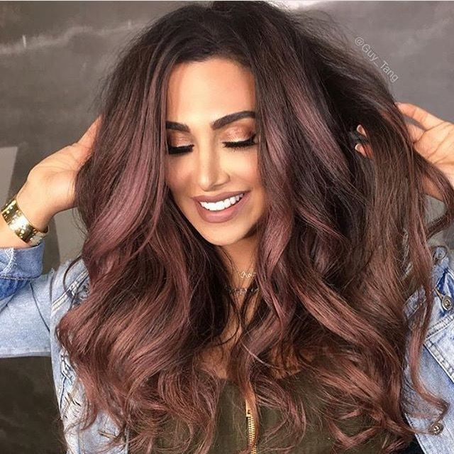 Dark rose gold highlights on chocolate brown hair beautiful dark rose gold highlights on chocolate brown hair pmusecretfo Images
