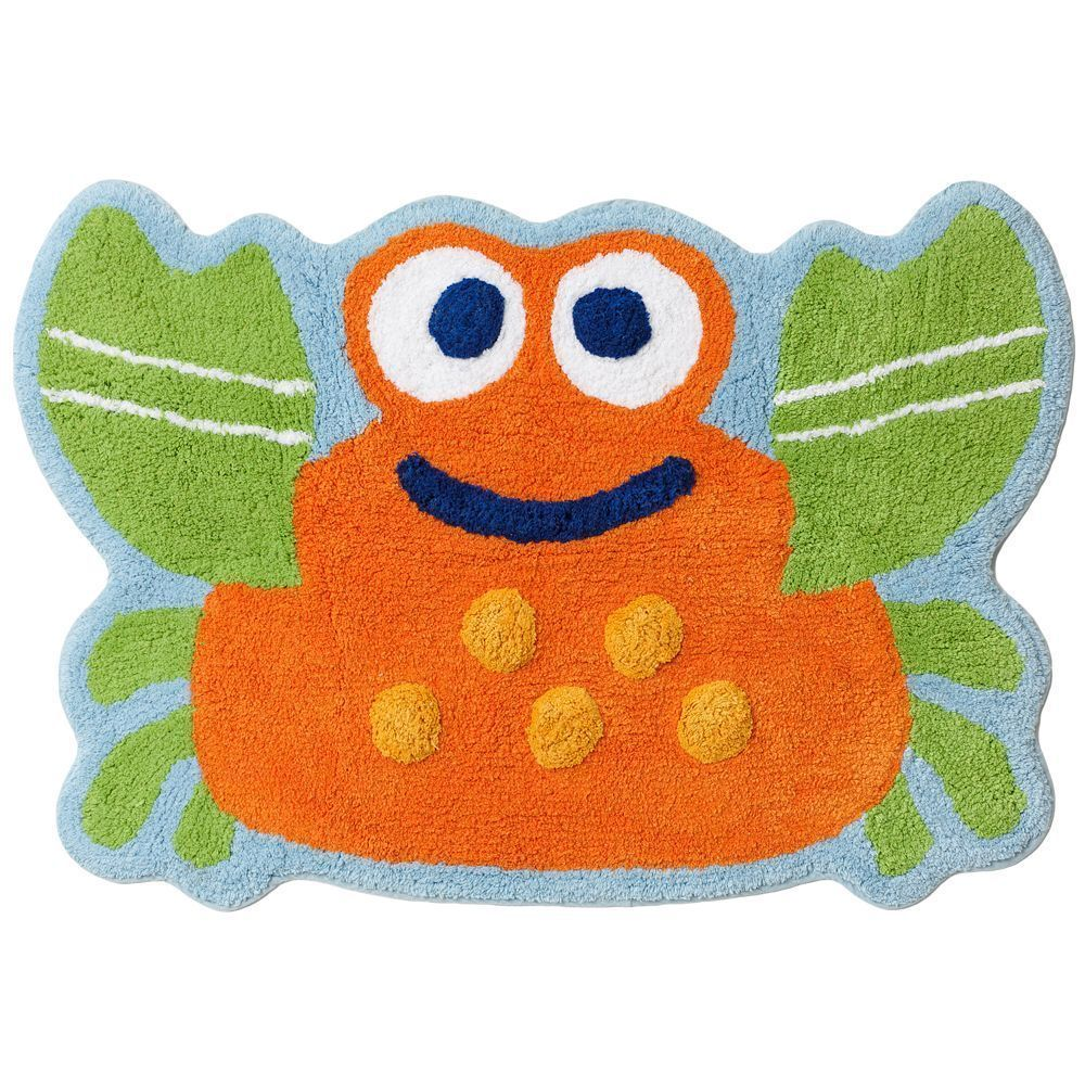 "Jumping Beans Fish Tales Crab Bath Rug 20""x30"" Cotton"