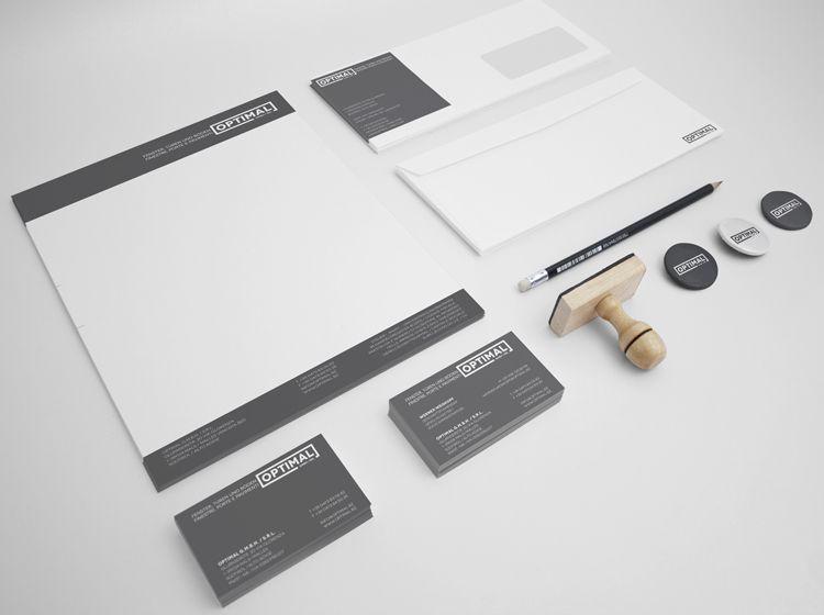 Corporate Design Fur Die Optimal Gmbh Visitenkarten Briefpapier