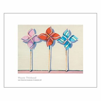 Wayne Thiebaud. Three Wind Toys, 1962. Available in three sizes.   This item is part of the SFMOMA Print on Demand collection. It will be custom-produced and delivered within 2-3 weeks.