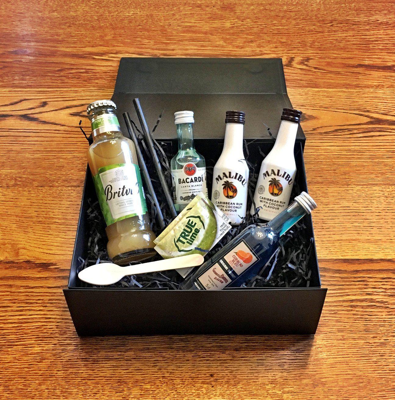 Blue hawaiian cocktail kit gift box in 2020 cocktail kit