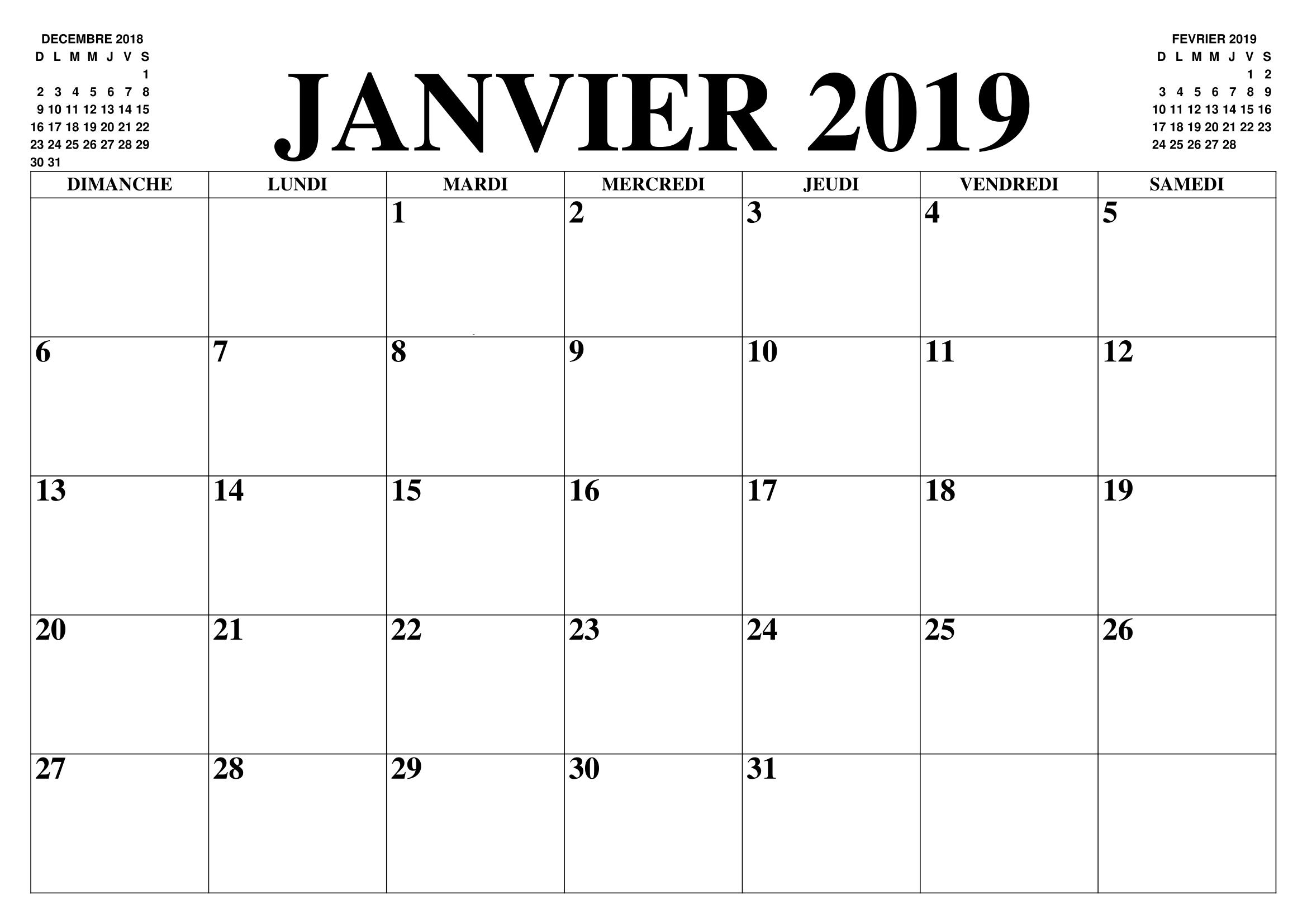Calendrier 2019 Png.Calendrier Janvier 2019 Pdf Words Calendar Math