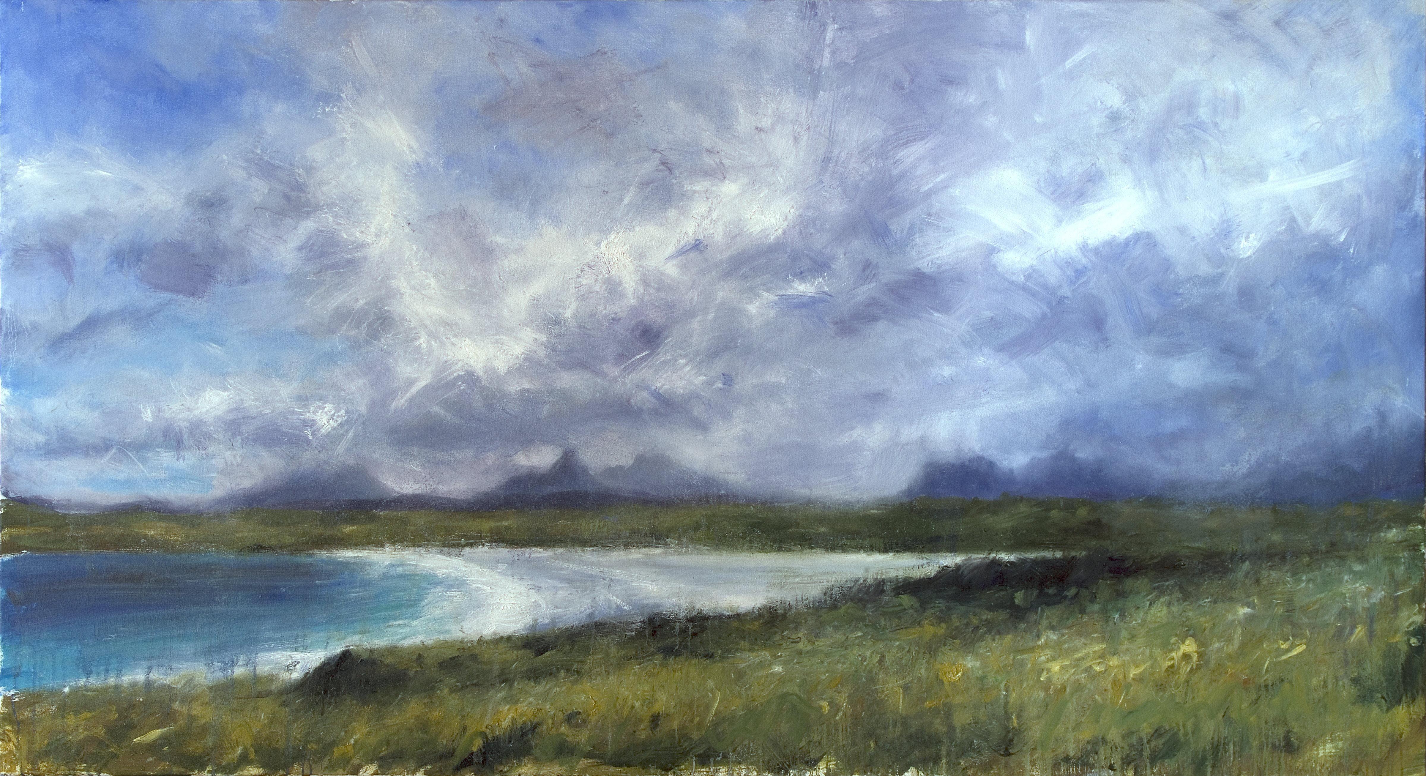 Jonathan Shearer | Achnahaird Beach | Oil on Canvas | http://www.artistics.com/en/art/jonathan_shearer/achnahaird-beach