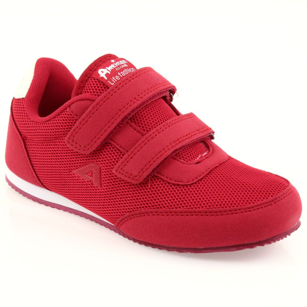Buty Sportowe Adidasy Czerwone American Club Biale Shoes Sneakers Fashion