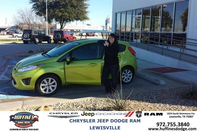 #HappyAnniversary to Lauren Wise on your 2011 #Ford #Fiesta from Bill Brand at Huffines Chrysler Jeep Dodge Ram Lewisville!