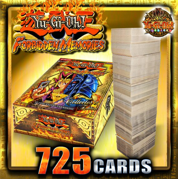 Yugioh Forbidden Memories Deck 725 Card with 2 playmats and box
