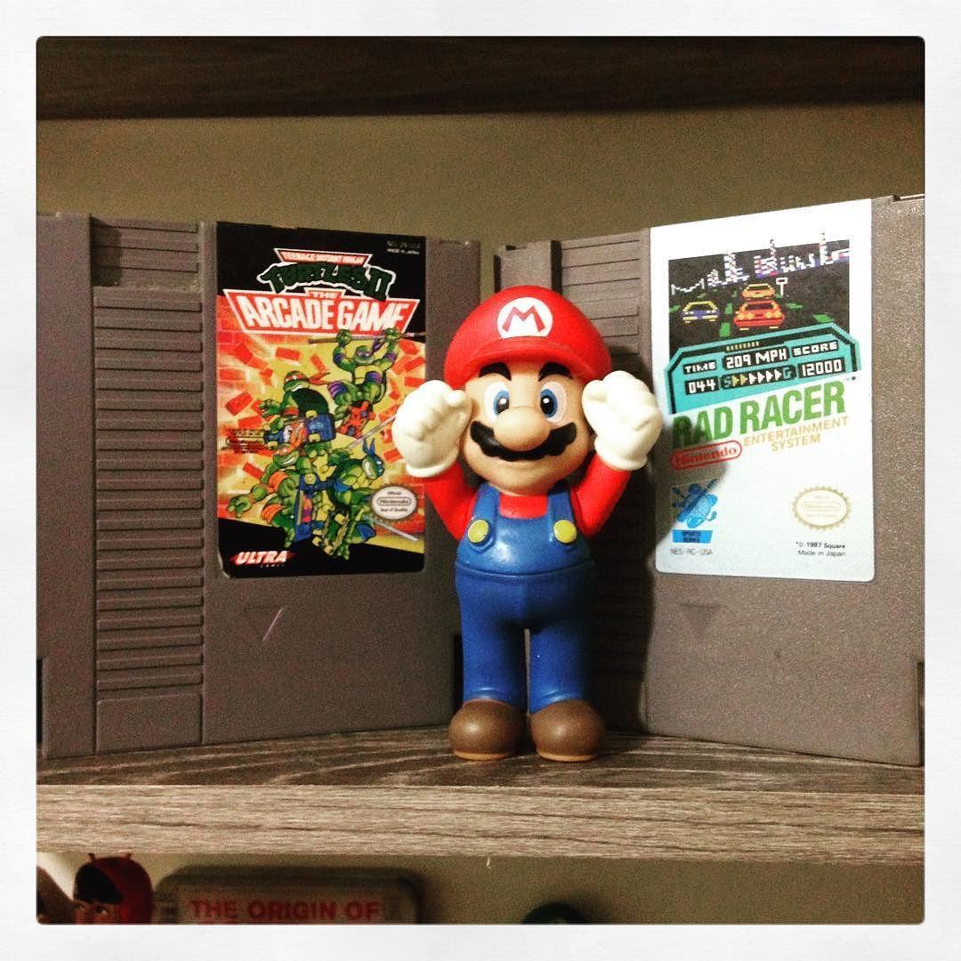 On instagram by rogercastaway_ #8bits #microhobbit (o) http://ift.tt/1O7K6ZM #games Rad Racer and TMNT 2!!  Santo Graal dos jogos de 8bits !! Eu tenho kkkkkkk #lol #picoftheday #gamers #crazy #geek