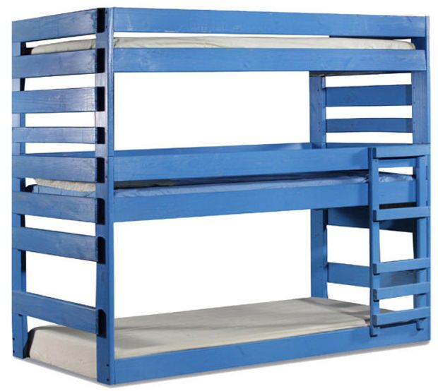 Tribeca Twin Triple Colored Bunk Bed