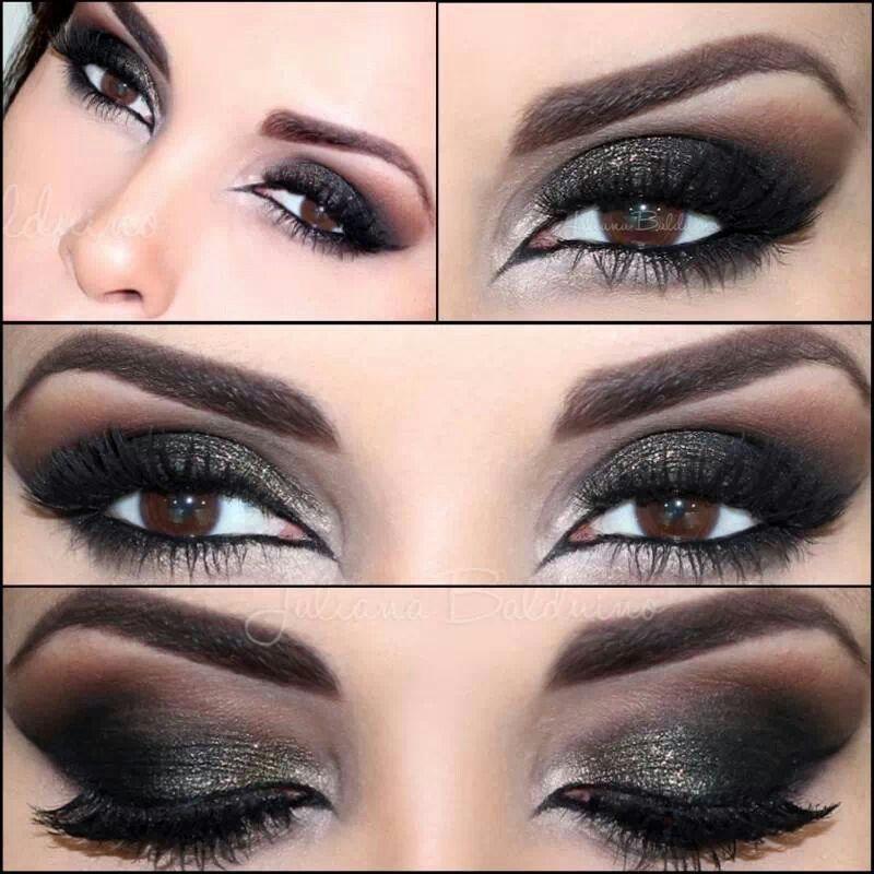 Maquillaje Noche Maquillaje Ojos Negros Maquillaje De Ojos Ahumados Maquillaje Ojos Marrones
