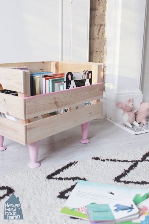 Photo of Ikea hack: Knagglig box to book storage — Hester's Handmade Home