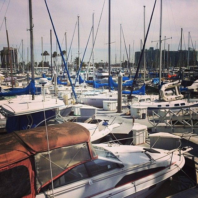 A Forest Of Masts In Marina Del Rey The Marina Is The World S Largest Man Made Small Craft Harbor With 19 Marinas With Capaci Moving Boxes Boat Marina Del Rey