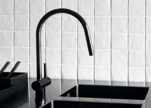 Designed by Ludovica and Roberto Palomba for Zucchetti, the Shock Faucet is also available in red or blue.
