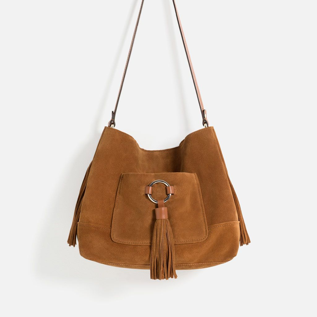 LEATHER BUCKET BAG WITH TASSELS-BAGS-WOMAN-COLLECTION AW16 | ZARA United States