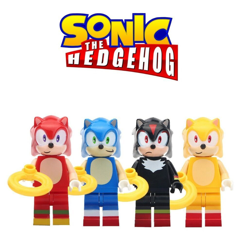 4pcs Sonic The Hedgehog Brand New Lego Moc Minifigure Gift For Kids Collection Afflink When You Click On Links To Various Lego Moc Gifts For Kids Lego Girls
