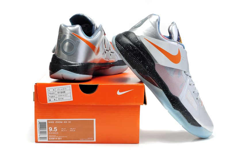 Kevin Durant Shoes | Nike Zoom KD IV Kevin Durant Shoes Silver/Black/Blue