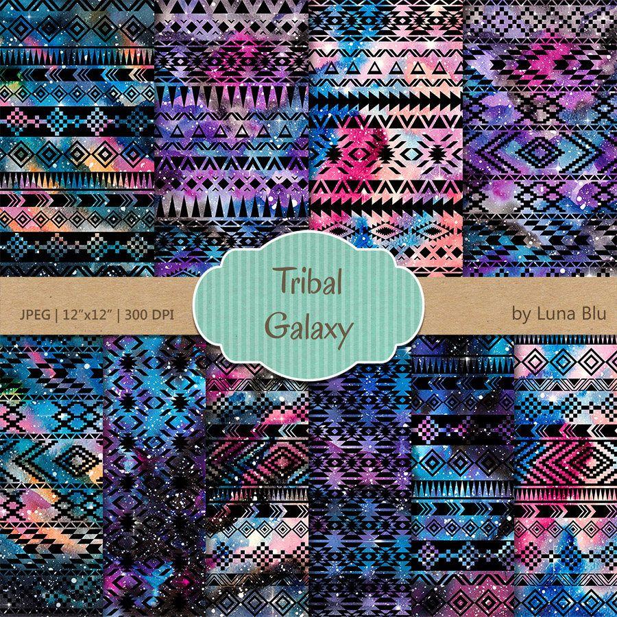 Galaxy Digital Paper Tribal Galaxy Tribal Digital Paper Galaxy