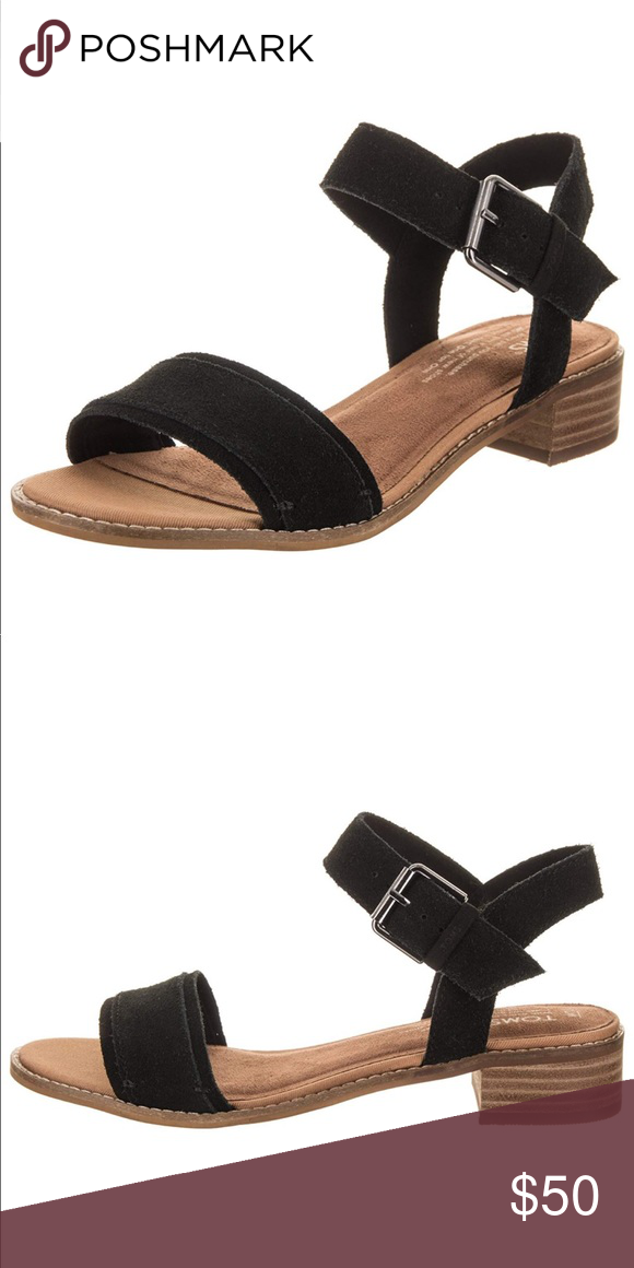 c8e4f8bb9184 Women s Camilia Leather Sandal in Black Suede Features   details  • Leather  • Rubber sole • Leather and suede upper • Ankle strap with adjustable metal  ...