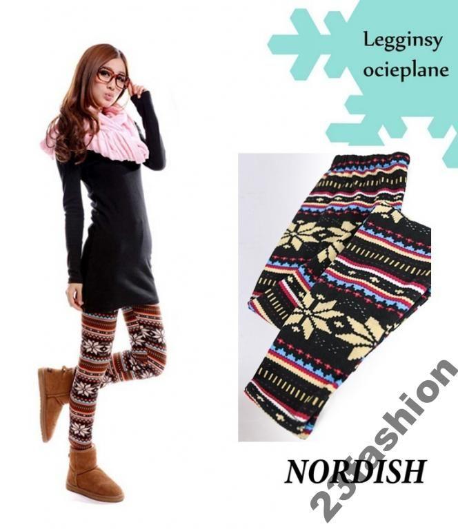 Leginsy Getry Nordish Podwojnie Ocieplane Norweski 3729797615 Oficjalne Archiwum Allegro Pattern Fashion Fashion Clothes For Women