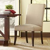 Found it at Birch Lane - London Rolled Back Side Chair Love the linen option