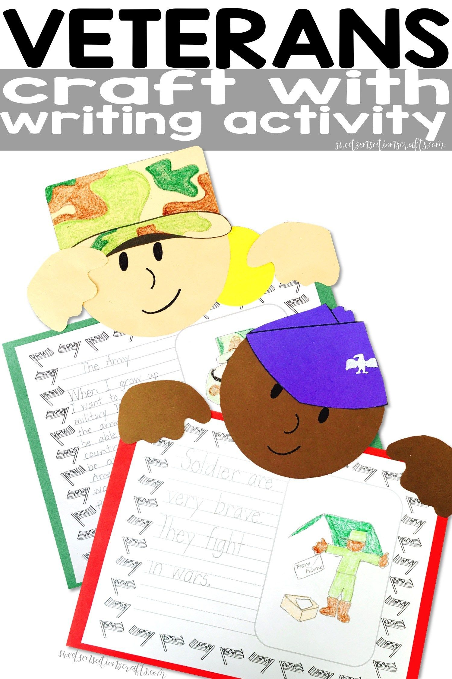 Veterans Day Military Craft With Writing Activity To Say