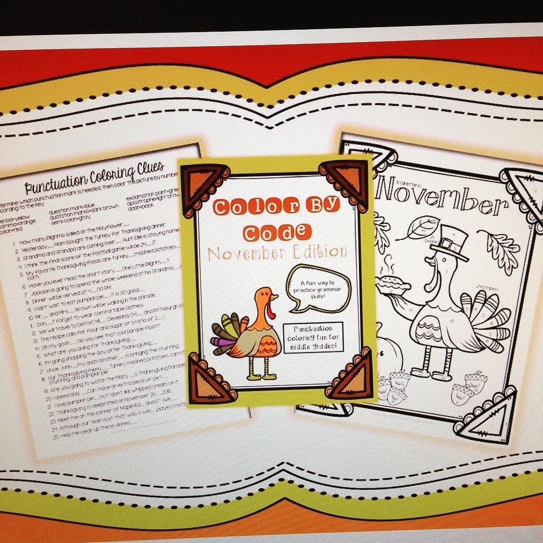 Thanksgiving Activity Punctuation Practice