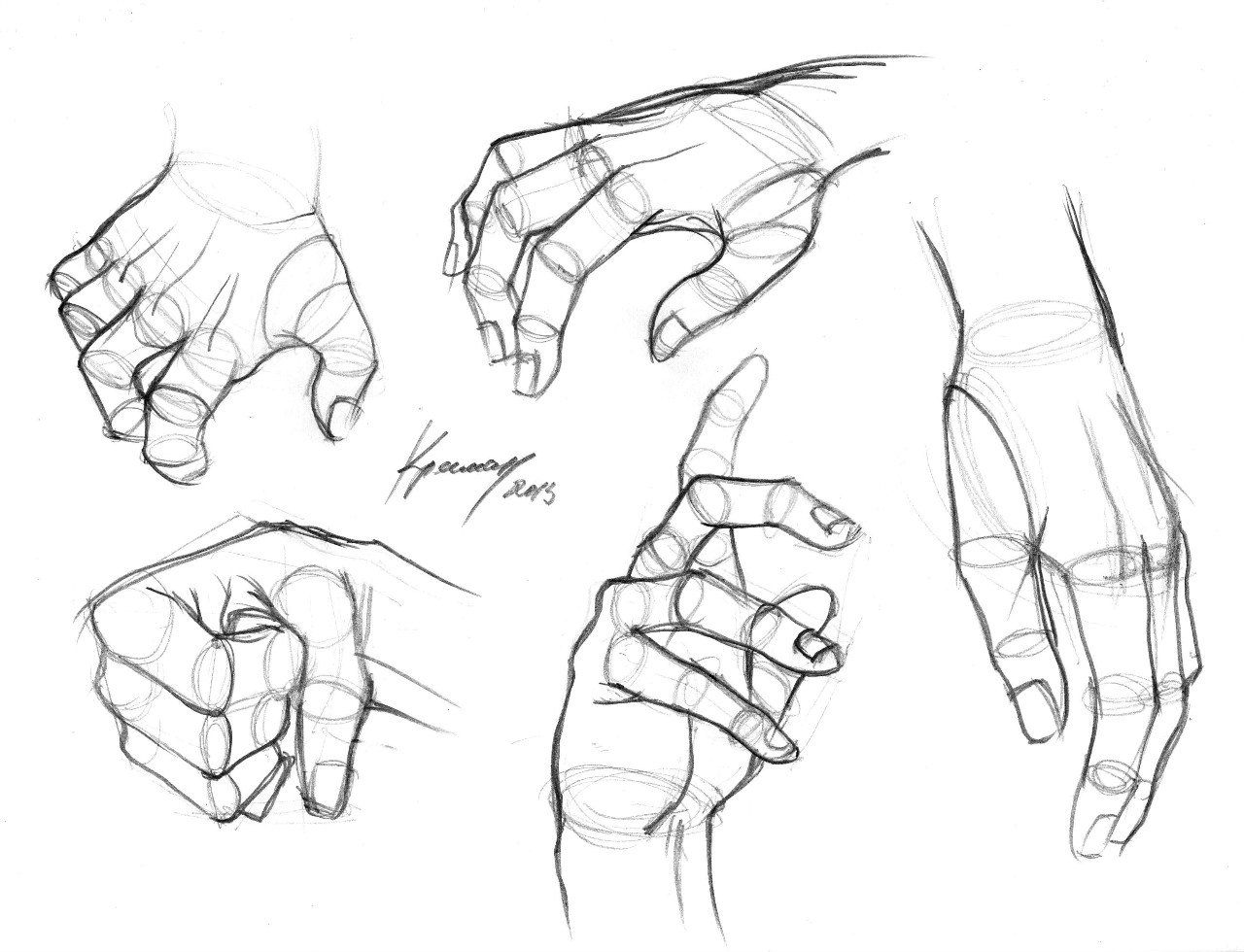 Картинка как нарисовать руки