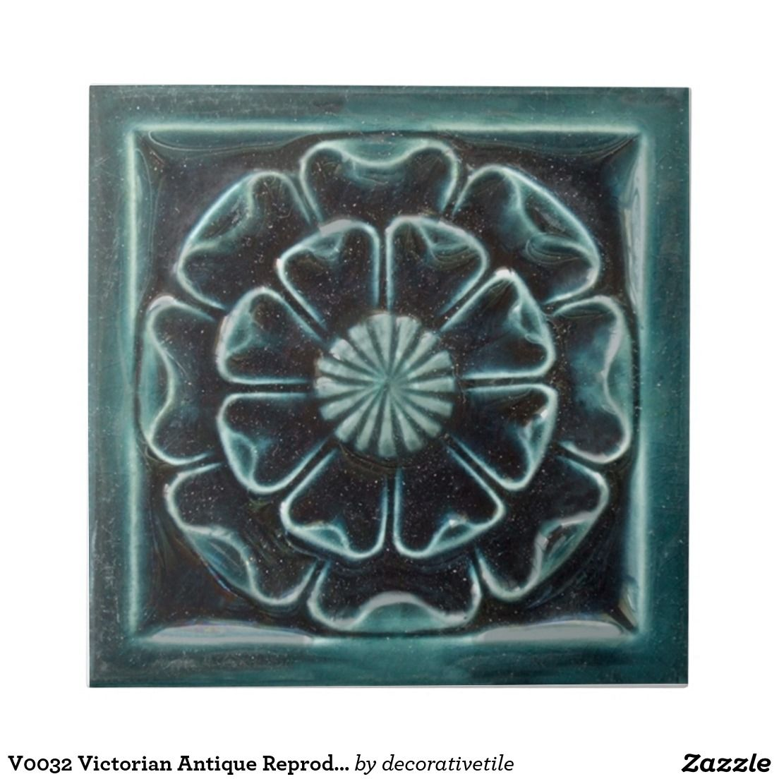 V0032 Victorian Antique Reproduction Ceramic Tile