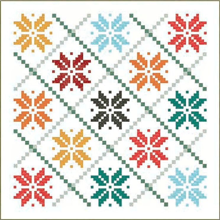 Norwegian Holiday Free Quilt Pattern | quilts | Pinterest | Punto de ...