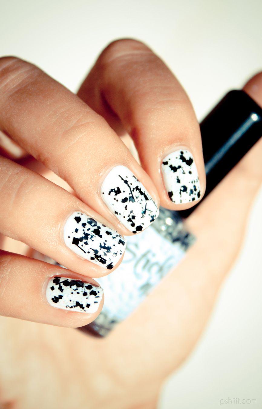 Paint Splatter Nails Nail Art Pinterest Nagel En Nagellak