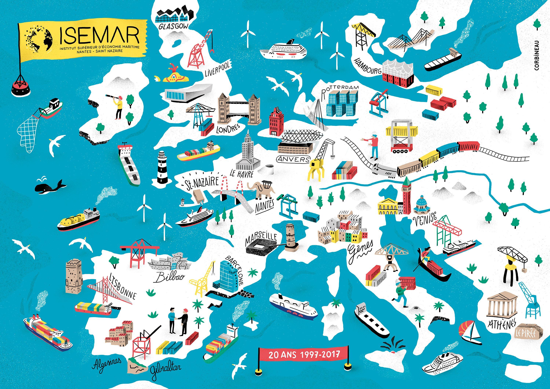 Antoine Corbineau Map Illustrator Illustration Map Creative